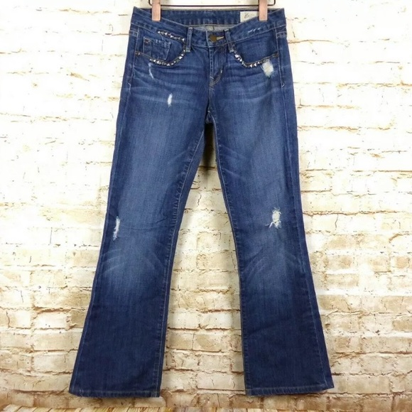 GAP Denim - Gap Limited Studded Sexy Boot Distressed Jeans